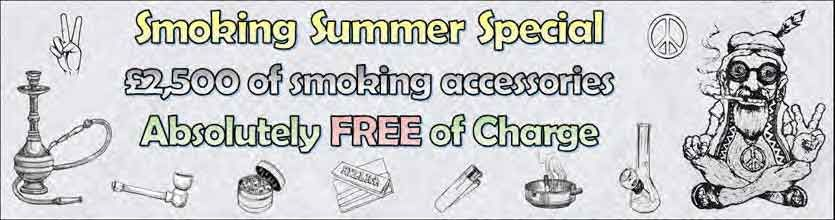 Super Summer Special 2019 Offer with Free Feminized Cannabis Seeds and Free Smoking Accessories with every order